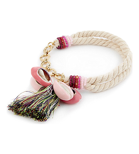 REBECCA MINKOFF Lola rope bracelet (Neutral+multi