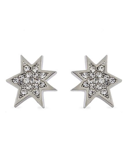 REBECCA MINKOFF Pow stud earrings (Silver/crsytal