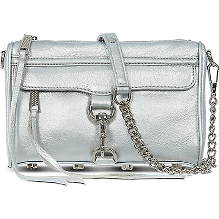 REBECCA MINKOFF Mini 'Morning After Clutch' (Silver