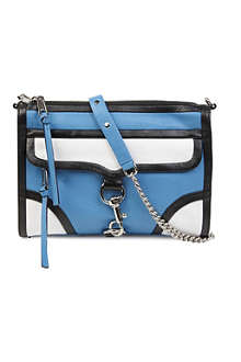 REBECCA MINKOFF Colourblock M.A.C. clutch bag