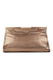 REBECCA MINKOFF Honey Bunch metallic clutch