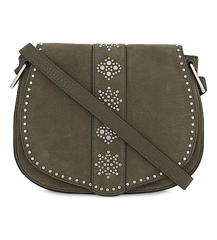 REBECCA MINKOFF Stargazing nubuck saddle bag (Olive