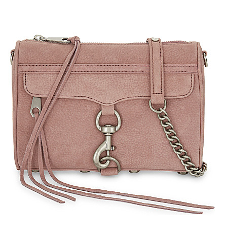 REBECCA MINKOFF Mini M.A.C suede cross-body bag (Berry
