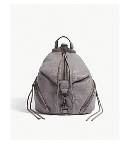 REBECCA MINKOFF Julian leather backpack (Grey