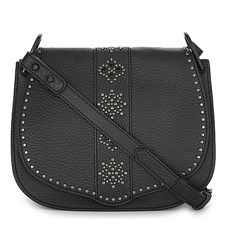 REBECCA MINKOFF Studded leather cross-body bag (Black