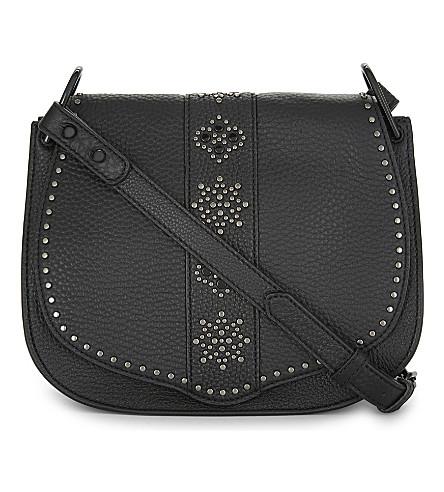 REBECCA MINKOFF Studded leather cross-body bag (Black