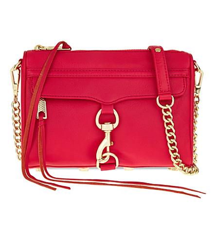 REBECCA MINKOFF Mini Mac leather cross-body bag (Fuscia