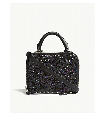 REBECCA MINKOFF Glitter cross-body bag (Purple+multi