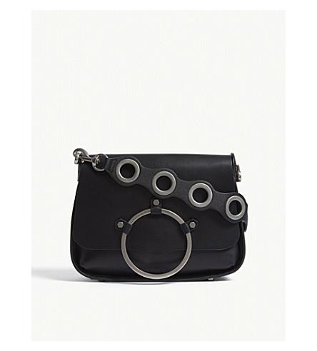 REBECCA MINKOFF Ring leather shoulder bag (Black