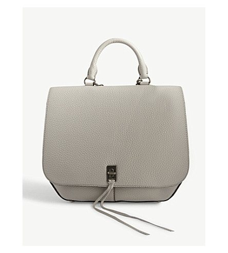 REBECCA MINKOFF Darren grained leather convertible backpack (Putty
