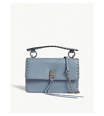 REBECCA MINKOFF Darren flap cross-body bag (Dusty+blue