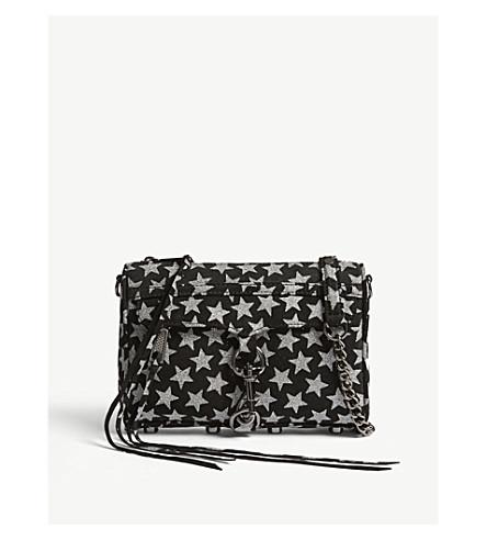 REBECCA MINKOFF Mini M.A.C. star motif suede cross-body bag (Black