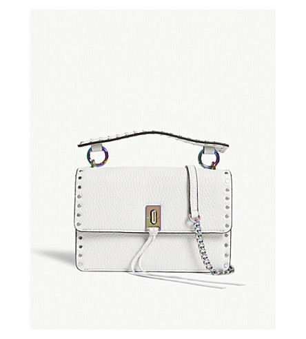 REBECCA MINKOFF Darren flap cross-body bag (Bianco