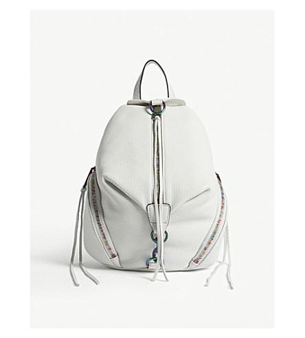 REBECCA MINKOFF Julian leather backpack (Bianco