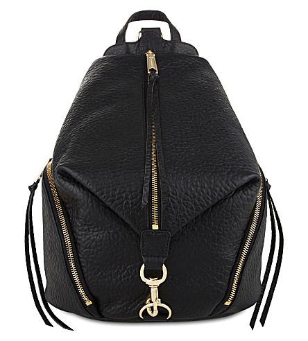 REBECCA MINKOFF Julian leather backpack (Black