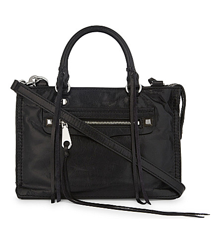 REBECCA MINKOFF Regan leather cross-body bag (Black