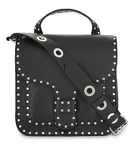 REBECCA MINKOFF Midnighter large leather shoulder bag (Black