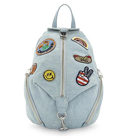 REBECCA MINKOFF Julian medium denim backpack (Light denim