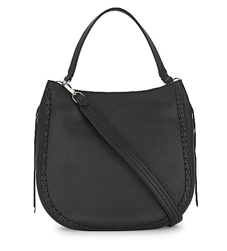 REBECCA MINKOFF Unlined leather hobo (Black