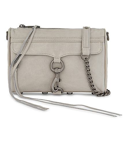 REBECCA MINKOFF Mini M.A.C. distressed leather cross-body bag (Putty