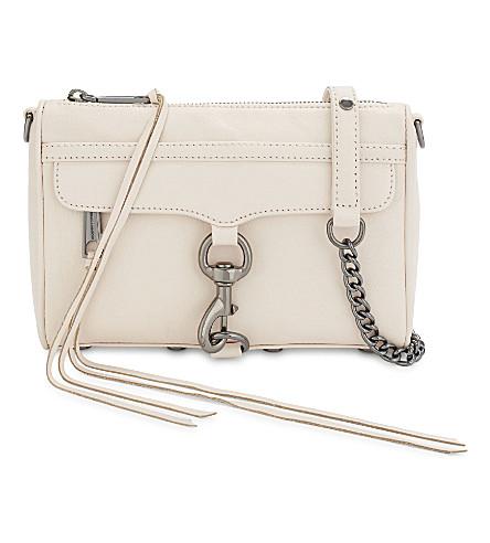 REBECCA MINKOFF Mini Mac leather cross-body bag (Soft+blush