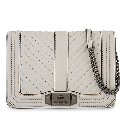 REBECCA MINKOFF Love leather small cross body bag (Putty