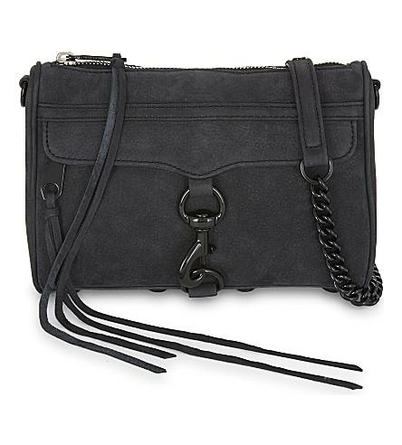 REBECCA MINKOFF Mini M.A.C suede cross-body bag (Black