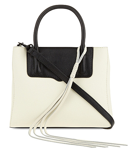 REBECCA MINKOFF Mini penelope leather tote (Antique white/black