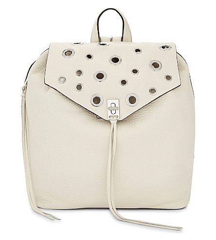 REBECCA MINKOFF Darren leather backpack (Antique+white