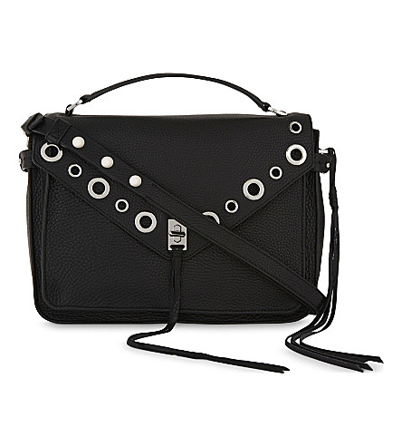 REBECCA MINKOFF Darren grained leather shoulder bag (Black