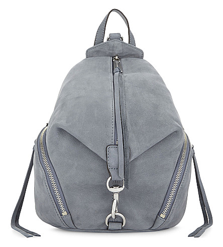 REBECCA MINKOFF Julian suede backpack (Dusty+blue