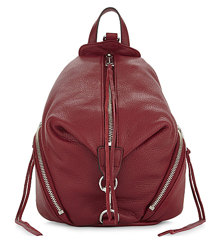 REBECCA MINKOFF Julian leather backpack (Beet