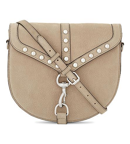 REBECCA MINKOFF Rose nubuck leather saddle bag (Sandstone