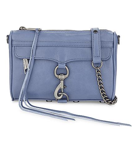 REBECCA MINKOFF Mini M.A.C leather cross-body bag (Azure