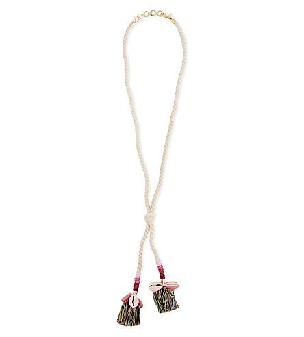 REBECCA MINKOFF Lola rope lariat necklace (Neutral+multi