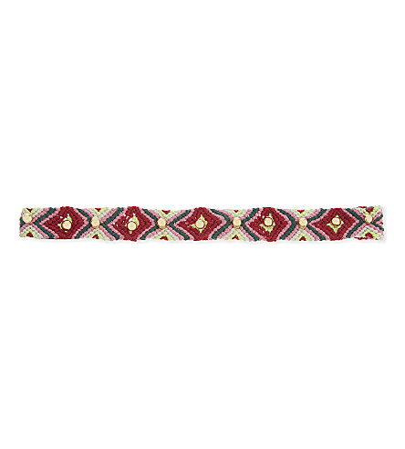 REBECCA MINKOFF Dome studded friendship choker (Gold/red+multi