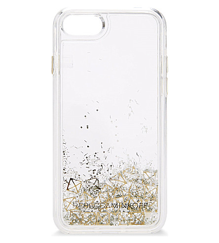 REBECCA MINKOFF Glitterfall iPhone 7 case (Liquid glitter/studs