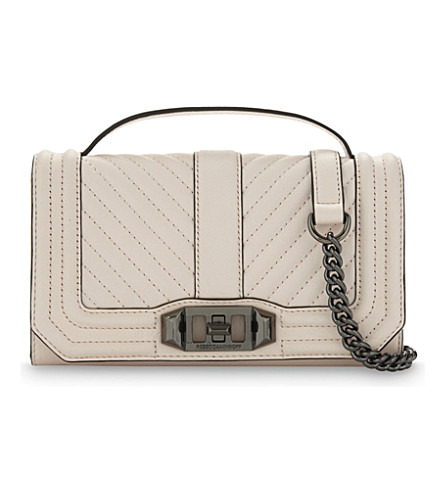 REBECCA MINKOFF Love leather cross-body bag (Soft blush