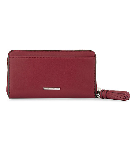 REBECCA MINKOFF Leather multi-functional wallet (Beet
