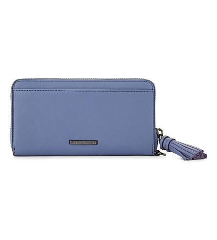REBECCA MINKOFF Tasselled leather wallet (Azure