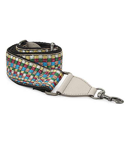 REBECCA MINKOFF Rainbow guitar bag strap (Black+metallic
