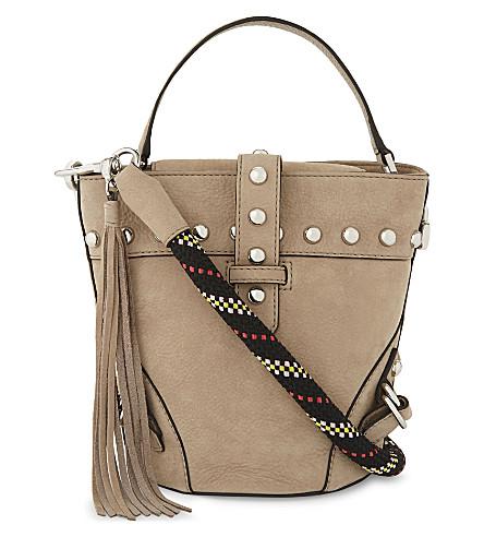 REBECCA MINKOFF Rose suede mini shoulder bag (Sandstone