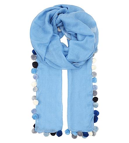 JANE CARR Boho lambswool scarf (Marine