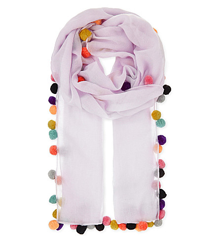 JANE CARR Boho lambswool scarf (Nougat