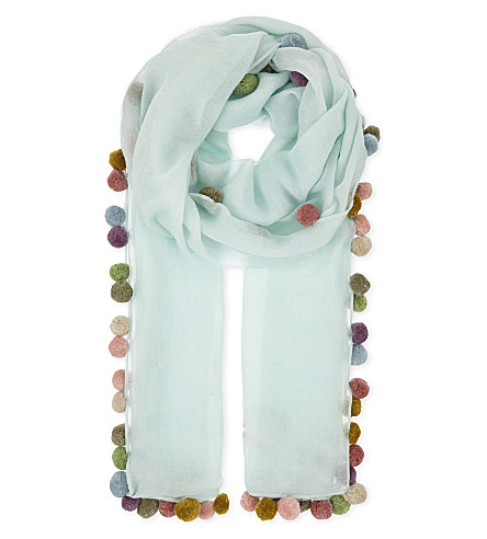 JANE CARR Boho lambswool scarf (Opal