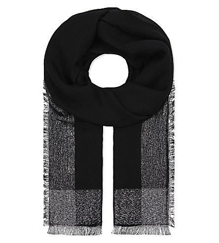 JANE CARR The Argent cashmere scarf (Noir