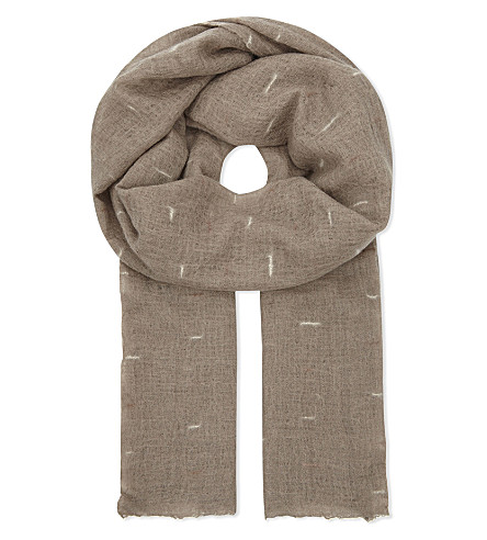 JANE CARR Line print cashmere scarf (Horse