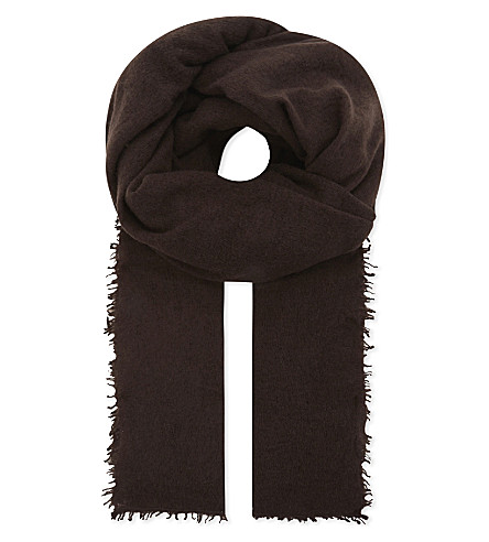 JANE CARR The Luxe cashmere scarf (Prune