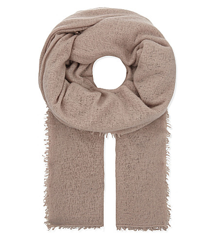 JANE CARR The Luxe cashmere scarf (Granite