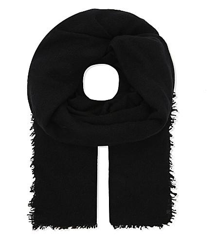 JANE CARR Luxe cashmere scarf (Noir